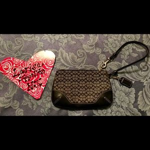 Coach Leather and Canvas Wristlet
